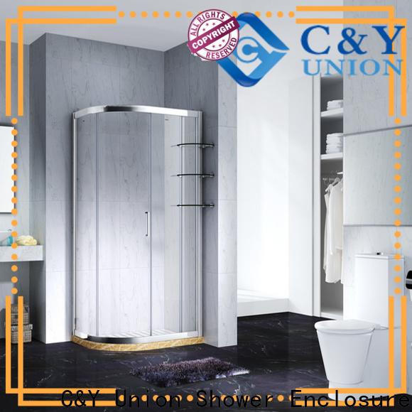 C&Y Union colorful framed glass shower enclosure for bath
