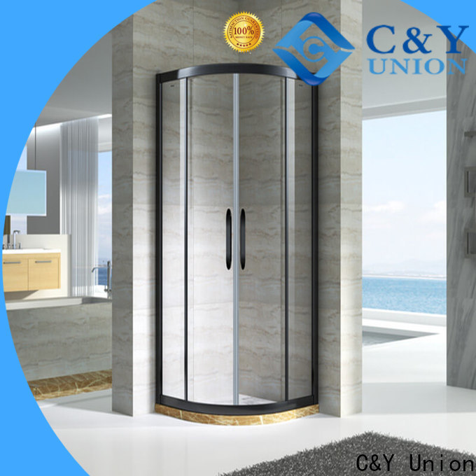 C&Y Union framed glass shower enclosure for tub for bagnio