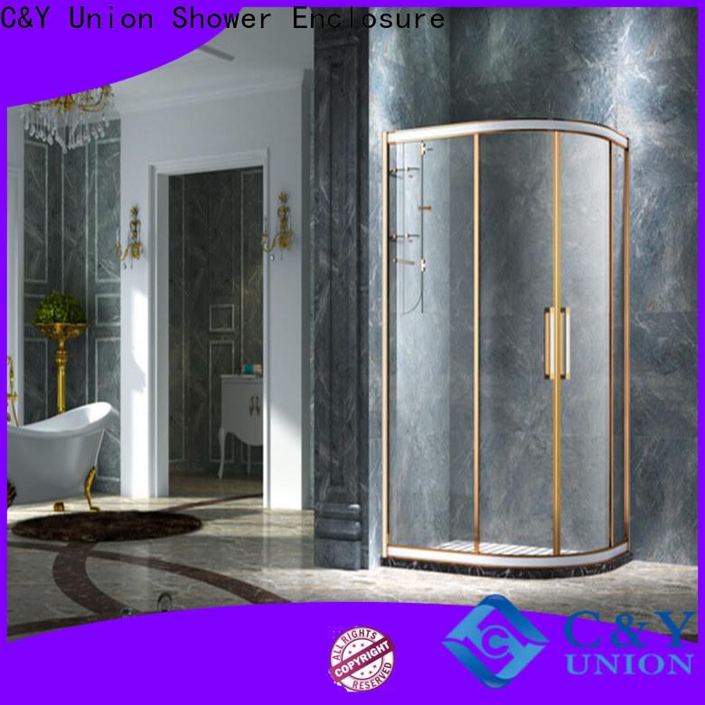 aluminum framed glass shower enclosure for tub for bagnio