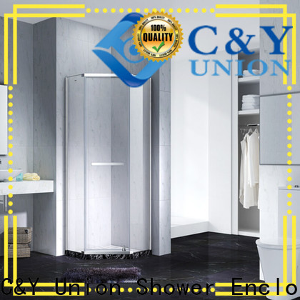 C&Y Union firm frameless glass shower shower panels for bath
