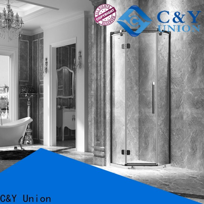 C&Y Union firm frameless glass shower easy clean for bathroom