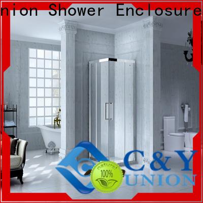 C&Y Union elegant custom framed shower doors for bath