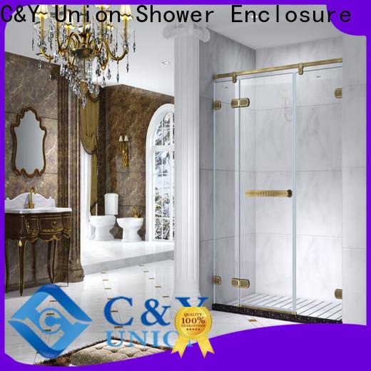 C&Y Union frameless shower enclosure for shower room