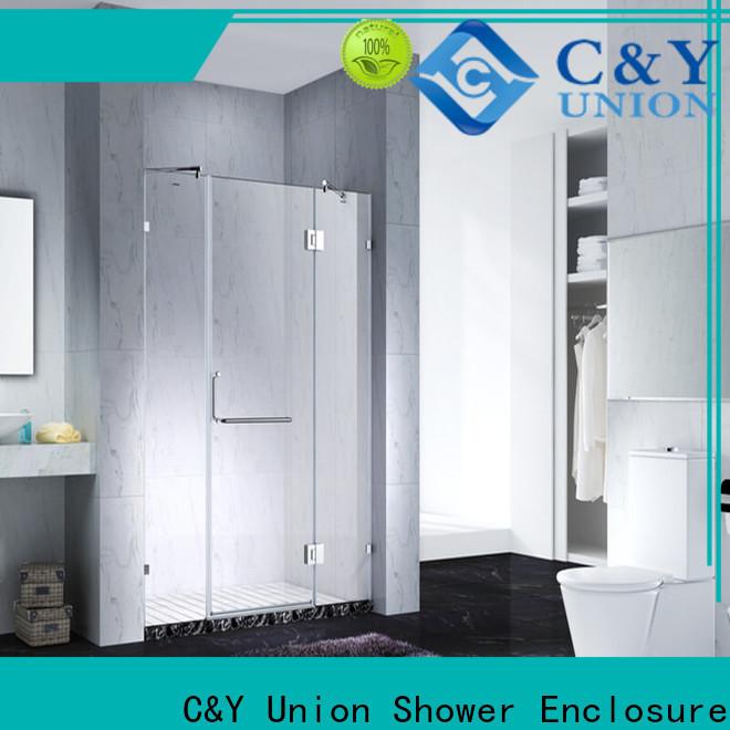 stable frameless glass shower for bathtub