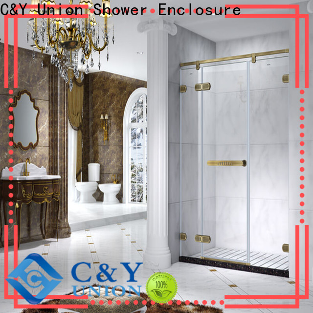C&Y Union practical frameless shower factory for tub