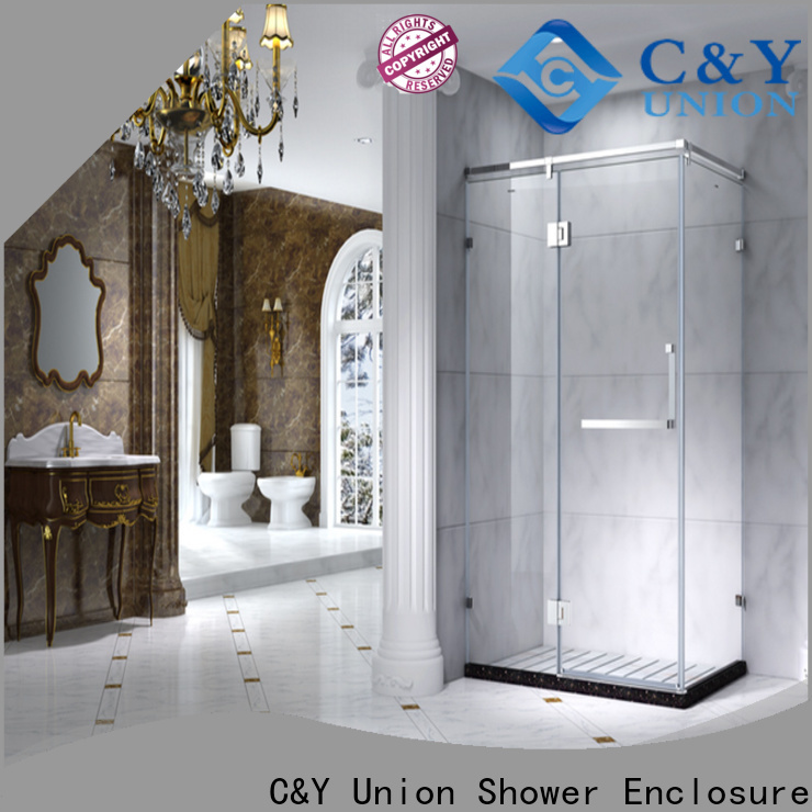 C&Y Union popular framed glass shower with sliding door for bath