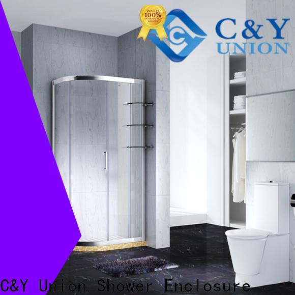 C&Y Union aluminum framed glass shower door with sliding door for bagnio