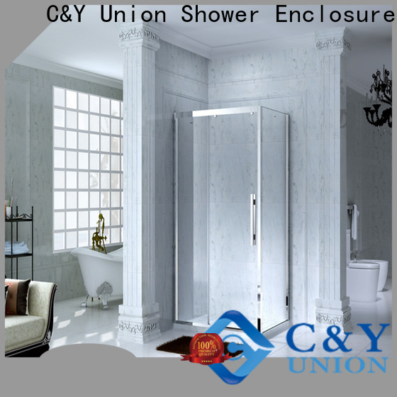 C&Y Union semi framed shower manufacturer for bathroom