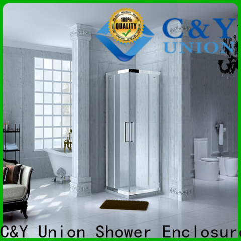 C&Y Union practical framed shower glass doors for sale for bathtub showers