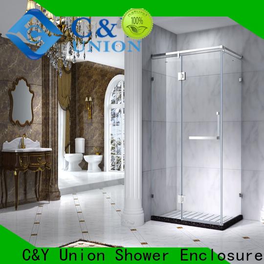 practical framed shower enclosure with sliding door for corner