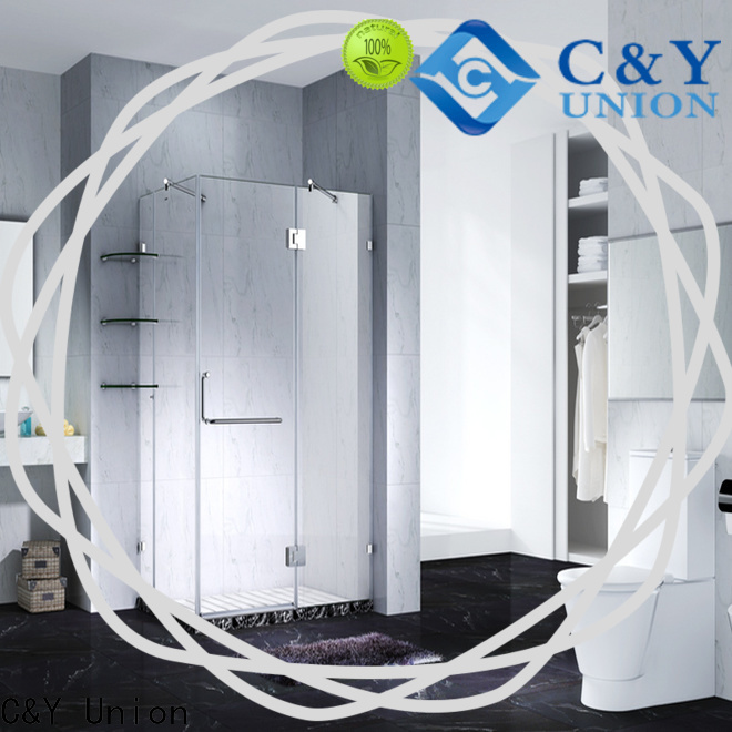 C&Y Union firm glass shower enclosures for shower room