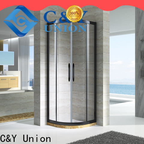 C&Y Union semi framed shower for tub for alcove