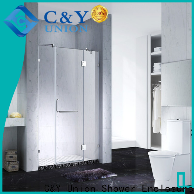 elegant frameless shower enclosure cabin for bath