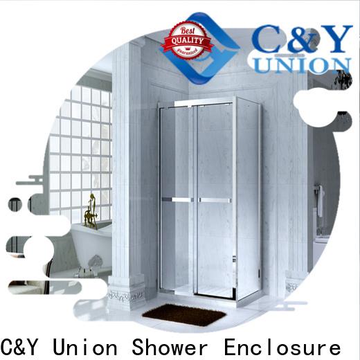 C&Y Union colorful semi framed shower manufacturer for bath