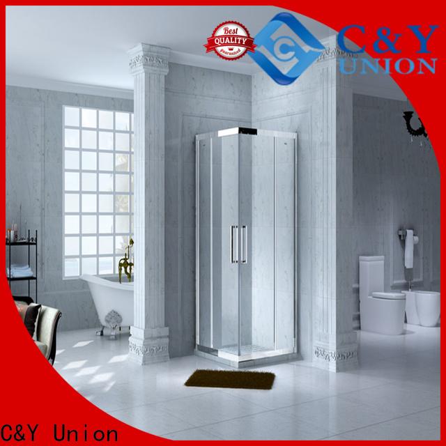 C&Y Union colorful framed glass shower door for bathroom