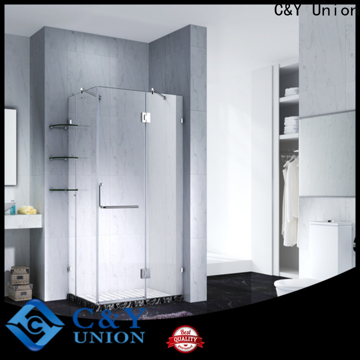 C&Y Union elegant frameless shower enclosure for bathroom