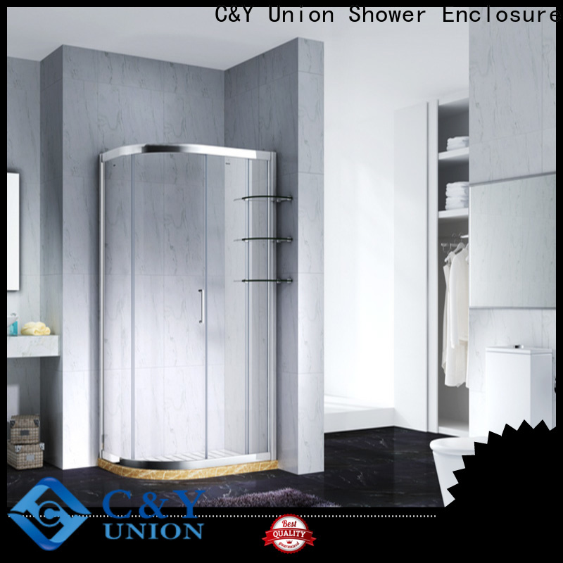 C&Y Union practical semi framed shower door for tub for bagnio