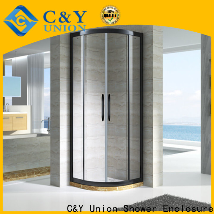 C&Y Union practical custom framed shower doors with sliding door for alcove