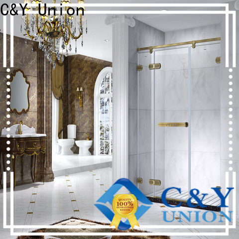 C&Y Union high quality frameless glass shower doors shower panels for bagnio