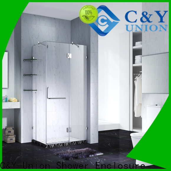 C&Y Union frameless glass shower doors cubicles for bagnio