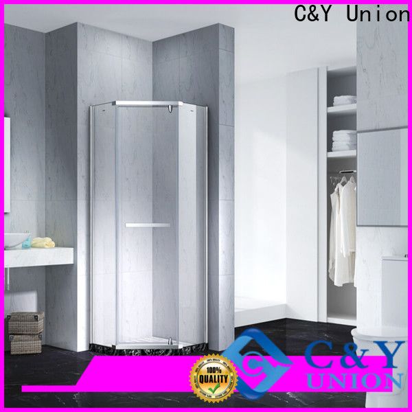 C&Y Union firm glass shower enclosures easy clean for bathroom