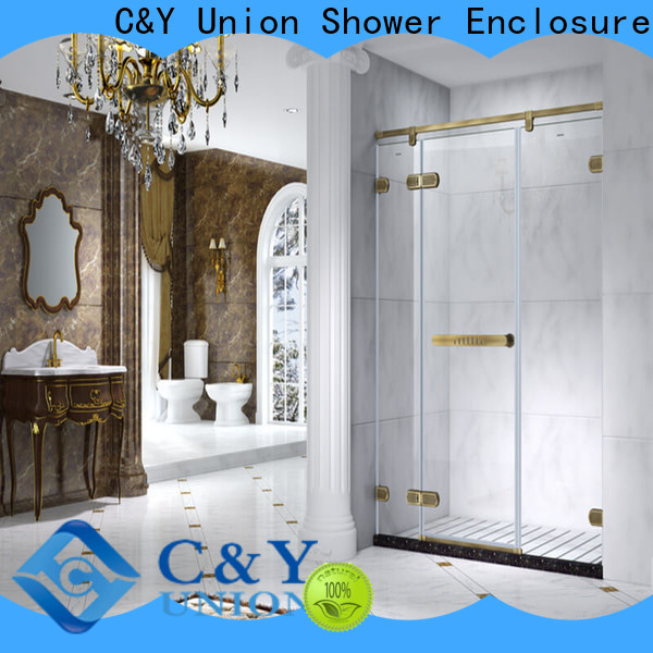 firm semi frameless shower door cabin for bathroom