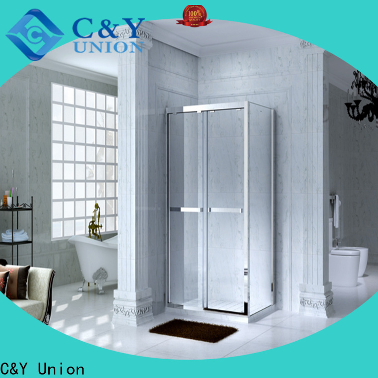 C&Y Union framed glass shower for tub for bathtub showers