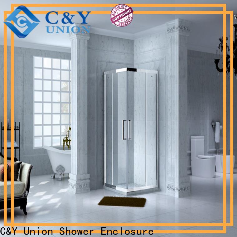 C&Y Union practical semi framed shower for bath