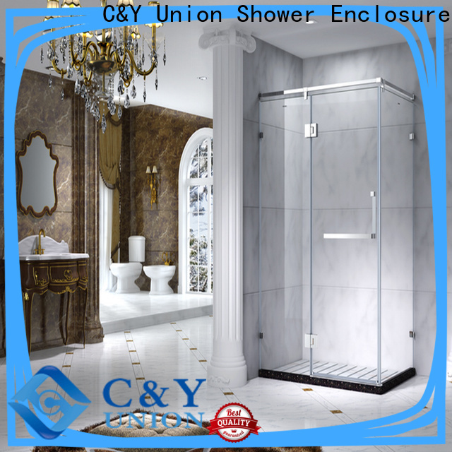 C&Y Union framed shower enclosure with sliding door for bathroom