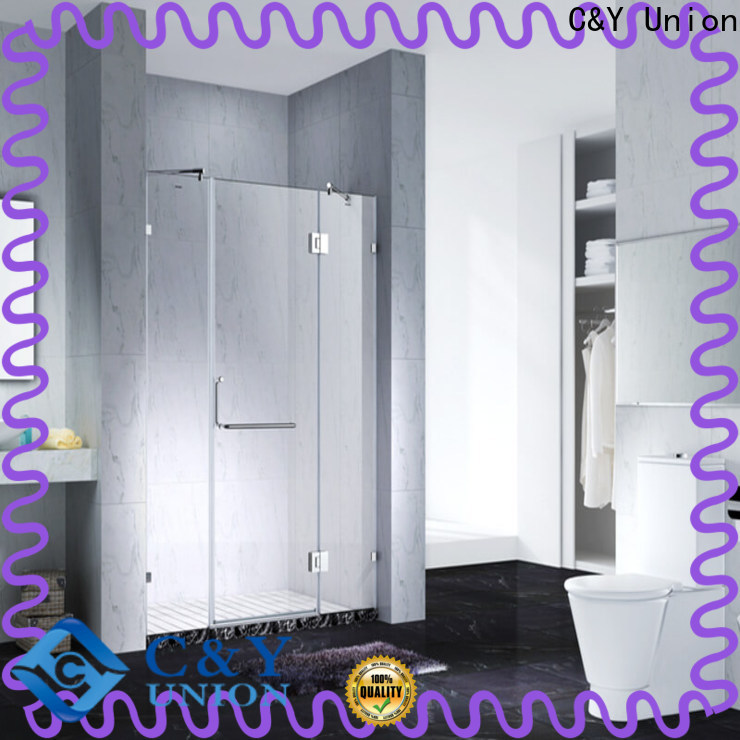C&Y Union stable frameless shower enclosure shower screen for shower room