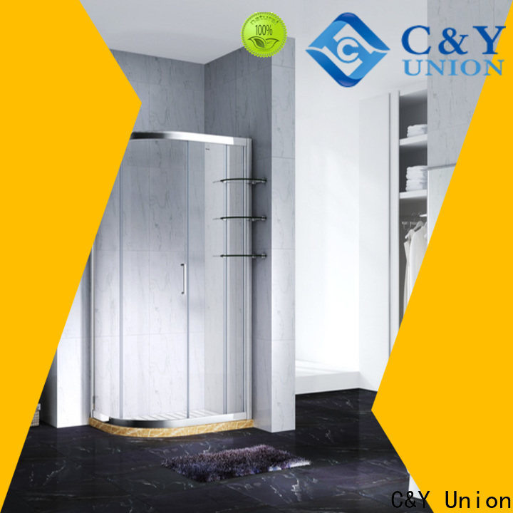 C&Y Union elegant framed glass shower with sliding door for standalone showers