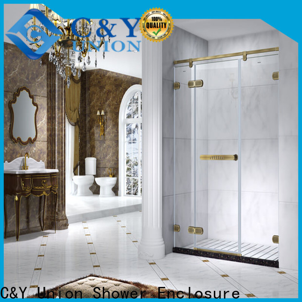 C&Y Union practical frameless glass shower doors factory for bathtub