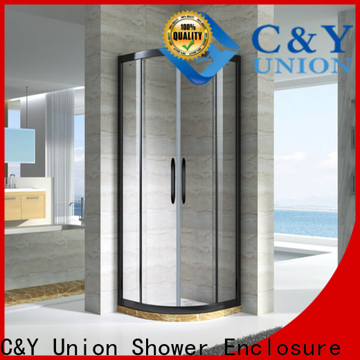durable framed glass shower for corner