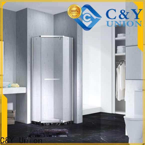 C&Y Union frameless shower cubicles for bath
