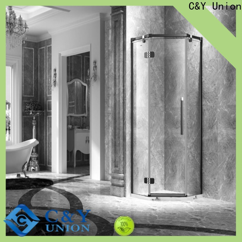 C&Y Union frameless shower screen shower panels for tub