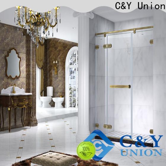 C&Y Union high quality frameless glass shower cabin for bathtub