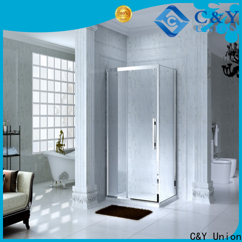 stainless steel framed shower glass doors for sale for alcove