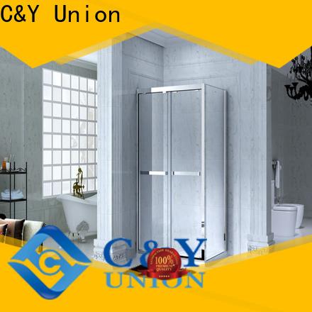 elegant framed glass shower door with sliding door for corner