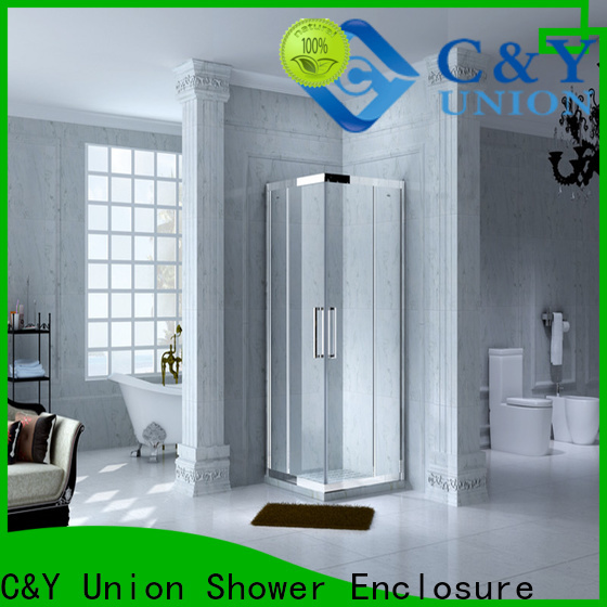 C&Y Union colorful framed glass shower for tub for bagnio