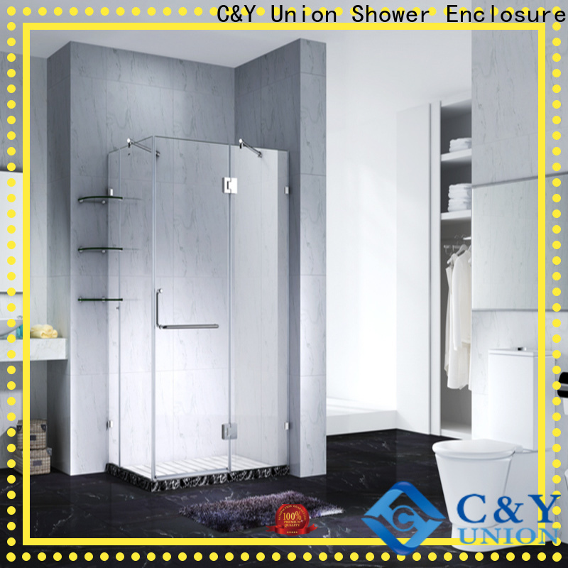 practical frameless glass doors for shower room