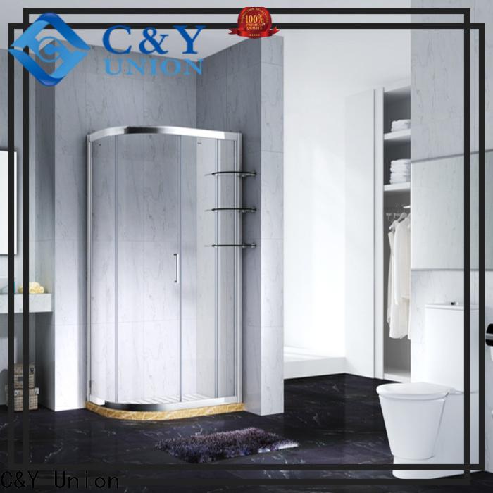 stainless steel semi framed shower door manufacturer for corner