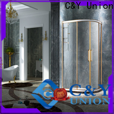 C&Y Union popular framed shower glass doors for tub for standalone showers