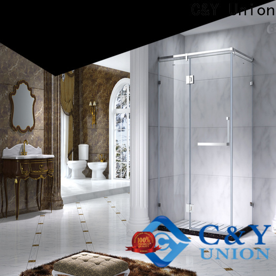 C&Y Union aluminum semi framed shower door for bagnio