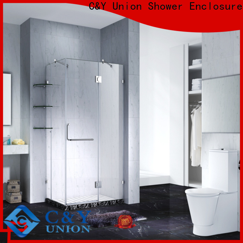 C&Y Union frameless shower screen cabin for bathtub