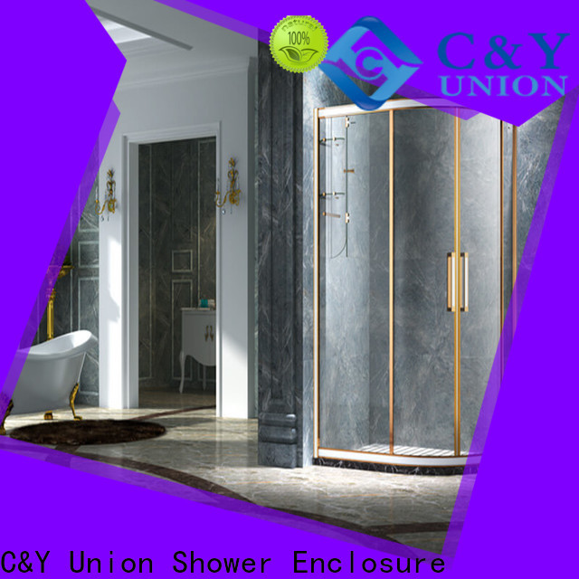 C&Y Union framed glass shower door for sale for standalone showers