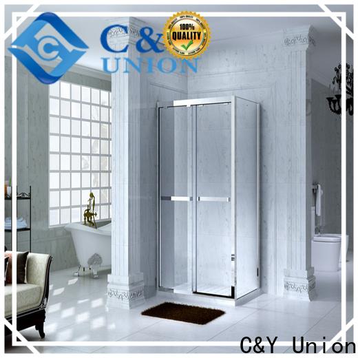 C&Y Union practical semi framed shower with sliding door for corner