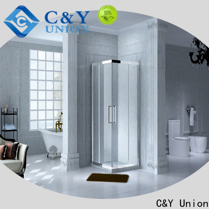 C&Y Union framed glass shower door manufacturer for bagnio