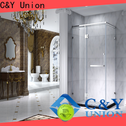 C&Y Union framed glass shower with sliding door for bath