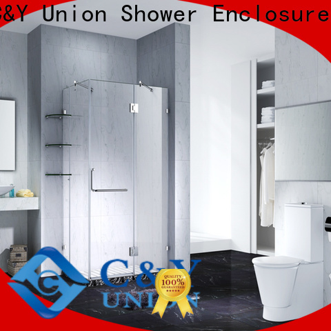 C&Y Union high quality semi frameless shower door factory for tub