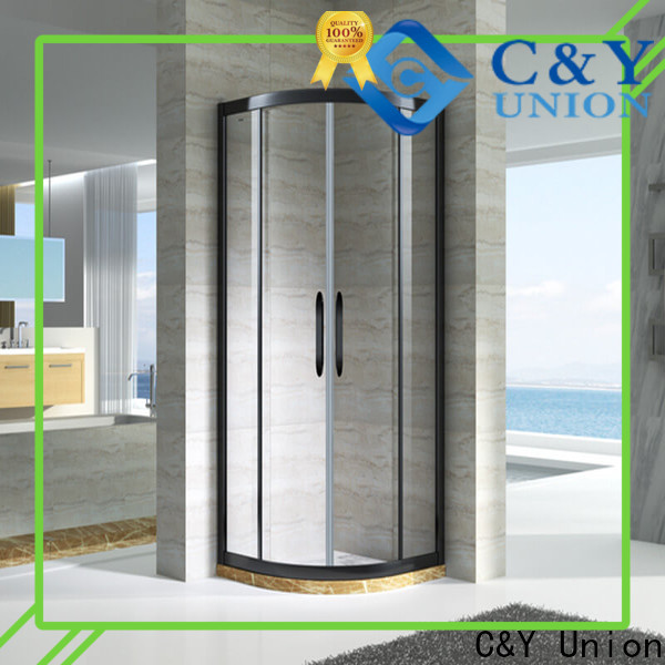 C&Y Union framed shower glass doors for standalone showers